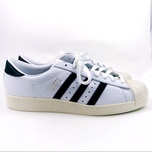 Mens Adidas Superstar OG Leather Shoes Size 10.5